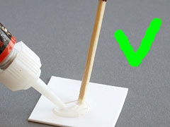 how to glue af chip dandelion