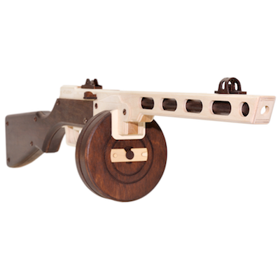 diy toy gun ppsh shpagin machine wooden model by t a r g assemble